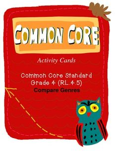 Did you know that Common Core Standard RL.4.5 (Literature) wants students to know concepts of poetry such as meter and rhythm? Plus, Common Core wants students to compare this to features of drama/plays such as stage directions, dialogue, and cast of characters. YIKES! These activity cards TEACH AND REVIEW these skills. Plus, this document also includes a printable, easy-fold box for storage! --New Cover