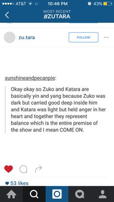 "#zutara we all know we shipped it... Even you ""kataang"" fans shipped it just a little..."