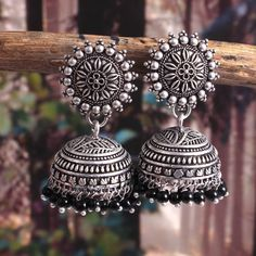 Your place to buy and sell all things handmade Indian Jewelry Earrings, Jewelry Design Earrings, Silver Jewellery Indian, Women's Earrings, Silver Jewelry, Jewelery, Designer Earrings, Pearl Jewelry, Stylish Jewelry