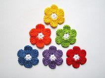 Die 98 Besten Bilder Von Applikationen Crochet Flowers Crochet