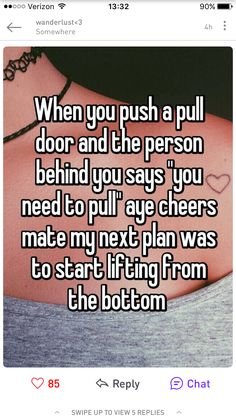 Whisper Confession- Pushing on a Pull Door