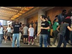 """On """"Love for the Techies Day,"""" production stage manager Jason Bassett calls the cues while Lin-Manuel and the company perform """"Ten Duel Commandments"""" (withou. Hercules Mulligan, Shakespeare Theatre, Hamilton Lin Manuel Miranda, Hamilton Musical, The Great White, What Is Your Name, Founding Fathers, Favorite Person, Your Story"""