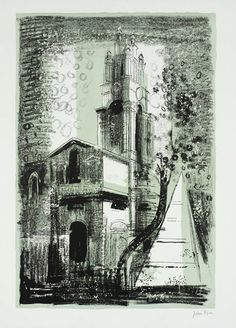 St Anne's, Limehouse, London, by Nicholas Hawksmoor. John Piper.
