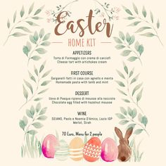 "Gustatio, Italian in Oud West | ""Celebrate Easter with us! Check out our new home kit! All #homemade and #traditional! Contact us and pre-order now!"" Mousse, Amsterdam, Place Cards, New Homes, Place Card Holders, Easter, Homemade, Traditional, Check"