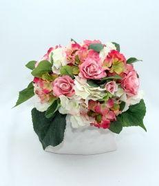 """Цветочная композиция из искусственных цветов """"Нежность"""" искусственные цветы в интерьере, искусственные цветы декор"""