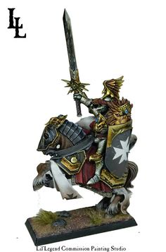 Warhammer Empire Lord - The Last Crusader ~ LilLegend Commission Painting Studio Warhammer Wood Elves, Warhammer Eldar, Warhammer Empire, Warhammer Fantasy, Free People, Wood Elf, Fantasy Battle, Fantasy Concept Art, Painting Services