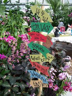 Wonderland Sign!  Decor from Franklin Park Conservatory and Botanical Gardens Family Fun event, Alice in Wonderland Tea Party.