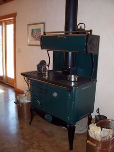 A real wood cooking stove