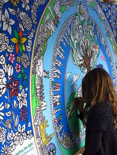 Giant colouring walls - awesome fun for corporate events, charity events, conferences, trade shows or marketing events.