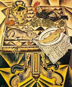 Joan Miro - La table, nature morte au Lapin - The Table, still life with Rabbit - 1920