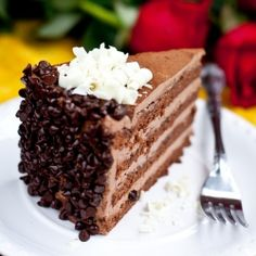Popular Russian cake, consisting of Chocolate cake and Chocolate Custard Creme