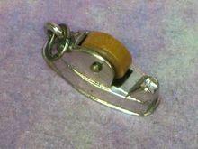 Sterling Silver Mechanical Movable Tape Dispenser Charm.