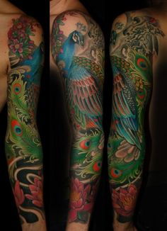 Tatuagens de pavão - Peacock Tattoos 45
