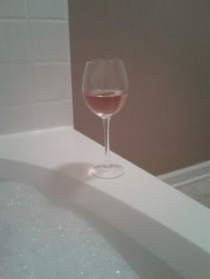 Pink Mascato and a bubble bath.