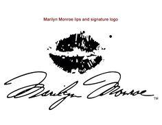 Marilyn Monroe lips and signature logo