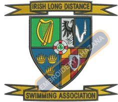 IRISH LONG DISTANCE crest embroidery