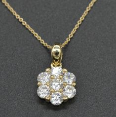 Ringjewels 14K White Gold Plated 0.09 Carat Round Cut Sapphire Diamond Solitaire Pendant with 18 Chain