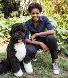 First Dog Bo with MIchelle Obama