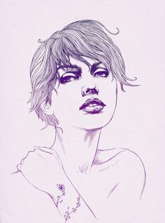 """Trying a different style this time, some sort of """"digital ballpen drawing"""", I drew it in black first and then experimented with colors. Ballpen Drawing, Drawing Sites, Pale Horse, Woman Illustration, Beautiful Drawings, Art Plastique, Female Art, Art Images, Illustrations Posters"""