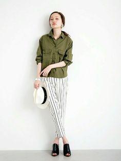 アーバンリサーチ 金沢百番街Rinto店 | mioさんのシャツ/ブラウス「URBAN RESEARCH UR ミリタリールーズシャツ」を使ったコーディネート