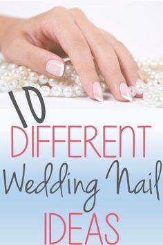 10 Different Wedding Nails Ideas http://youputiton.com/10-different-wedding-nail-ideas/
