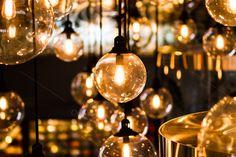 Retro Edison light bulb by Pushish Images on @creativemarket