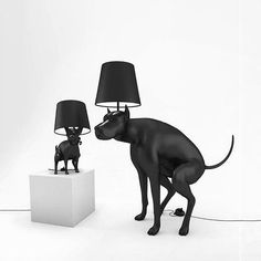Good Puppy table lamp & Good Boy floor lamp was designed as an item of everyday use that makes user uncomfortable with every use. The On/Off switch is shaped as a turd that needs to be pressed (or stepped on, for floor lamp) Dog Table, Dark And Twisty, Dog Items, Unique Lamps, Dog Accessories, Light Table, Lamp Design, Pendant Lighting, Designer