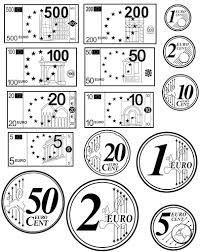 Resultat d'imatges de euros para colorear