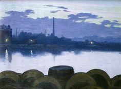 Charles Guilloux, River Landscape, 1893 on ArtStack #charles-guilloux #art