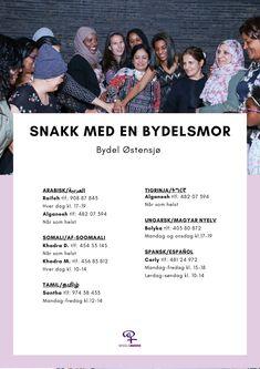 Bydelsmødrenes hjelpelinje på 24 språk Khadra, Somali, Movies, Movie Posters, Films, Film Poster, Cinema, Movie, Film