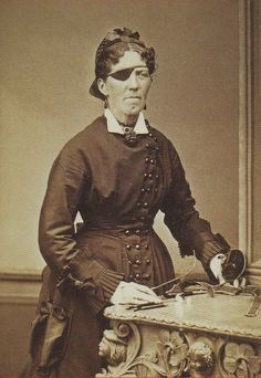 ca. 1870, [Otolaryngologist posing with her instruments] via Respiratory Diseases: a Photographic History 1845-1870, The Pioneer Era, Stanle...