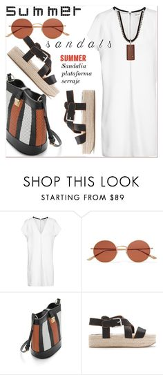 """""""The Cutest Summer Sandals"""" by paculi ❤ liked on Polyvore featuring Oliver Peoples and Bliss by Damiani"""