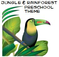 Jungle and Rainforest Theme and Activities for Preschool - SONGS! Rainforest Song, Rainforest Preschool, Rainforest Animals, Jungle Animals, Rainforest Plants, Jungle Preschool Themes, Preschool Activities, Jungle Theme, Bird Theme