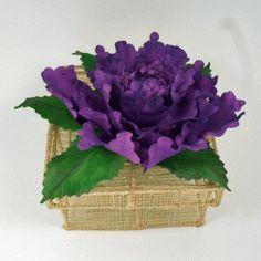peony-box - cold porcelain flower