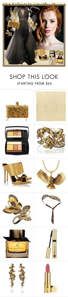 """""""I'm in trouble"""" by julyralewis ❤ liked on Polyvore featuring Lancôme, Annoushka, Giuseppe Zanotti, King Ice, Madina Visconti di Modrone, Burberry, Estée Lauder, Elizabeth Arden and Urban Decay"""