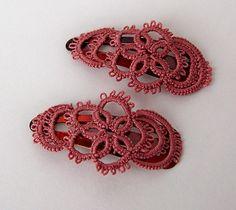Mauve hair clips | Flickr - Photo Sharing! Lovely idea.