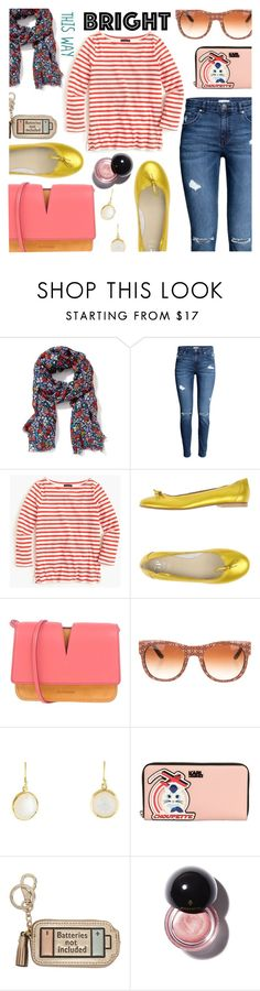 """""""Bright This Way"""" by stacey-lynne ❤ liked on Polyvore featuring Old Navy, J.Crew, Jil Sander, Tory Burch, Ippolita, Karl Lagerfeld and Anya Hindmarch"""