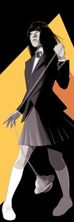 Cool Art: Kill Bill's Gogo Yubari & O-Ren Ishii by Craig Drake. See them here