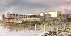 snøhetta unveils vision for the willamette falls masterplan in oregon  www.designboom.com