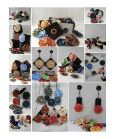 """Thanks to Eszter who has sent us these pictures: """"These are leather-based (brown or grey) earrings,bracelets,necklaces and rings with changeable Nespresso coffee capsule accessories. Almost every part of these jewels are made by hand. Each capsule is set up with popper fastener,so in this way the costumer itself can choose the colors and shapes he/she'd like. The buyer can create his/her own personalized and unique accessories:) I attach some photos about them. I've got a webshop (with…"""