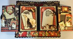 annes papercreations: Graphic 45 Raining Cats and Dogs Roof mini album tutorial finish part