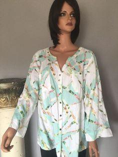 JM Collection Woman 22W Linen Tunic Designer Fashion During Summer Hip Chic  | eBay