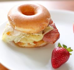 Krispy Kreme Doughnut Croque Madame. No one should eat this unless they own stock in Krispy Kreme!