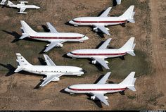 Area 51 most visible and known airplanes red striped Boeing 737 -200's  Call sign Janet, taking off from the private jet area of LAs Vegas Mc Carran airport to shuttle employees to the Area 51 base