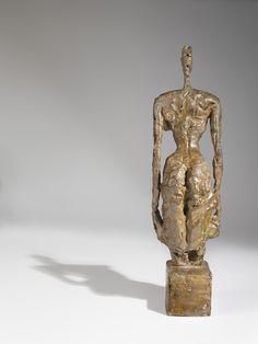 Alberto Giacometti (1901-1966) -  Nu debout sur socle cubique, 1953