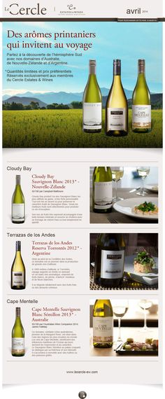 Le Cercle - Estate & Wines newsletter de avril 2014 Création FAT4