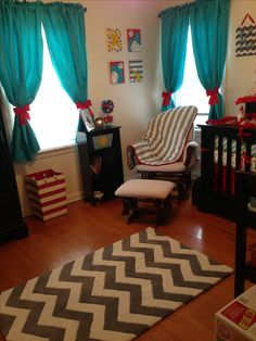Dr. Seuss Nursery?! I was going to do gray chevron and yellow but a little classy Dr. Seuss splashed in could be fun!