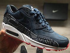 wholesale dealer 42507 b69a8 Nike Air Max 90 Premium Nubuck ID Kikko Indigo Air Max 1, Nike Air Max
