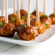 Baked Orange Chicken Meatballs | Kim's Healthy Eats