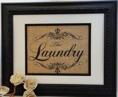 Vintage Laundry Burlap Art
